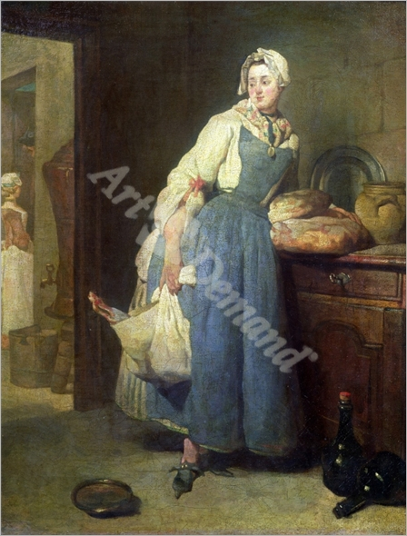 The Kitchen Maid with Provisions, 1739 (oil on canvas) - CHARDIN, JEAN-BAPTISTE SIMEON