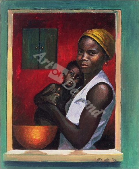 Through the Window, 1992 (oil on canvas) - Willis, Tilly