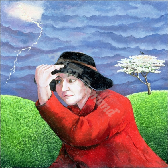 Determination, or Weathering the Storm (oil on canvas) - Wright, Liz