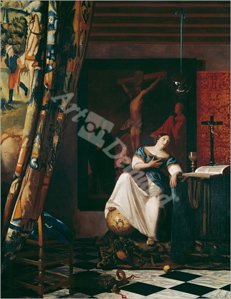 Alegoría de la Fe/1670 - VERMEER, Johannes
