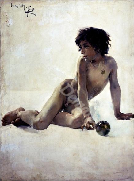 Desnudo académico/1887 - SOROLLA, Joaquín
