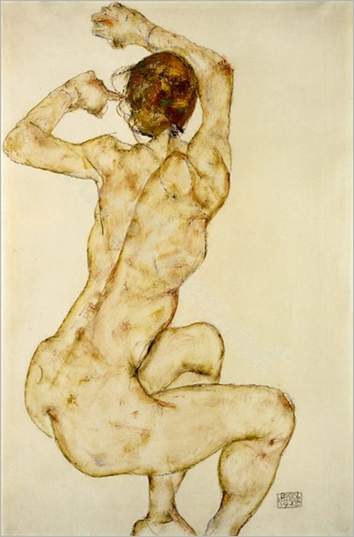 Nude with raised Arms - SCHIELE, Egon