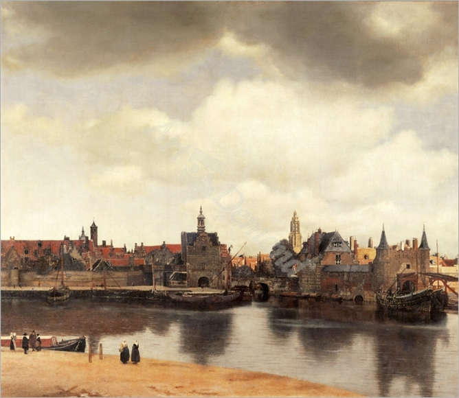 View of Delft, Netherlands, after the fire - VERMEER, Johannes
