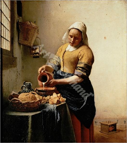 La lechera - VERMEER, Johannes