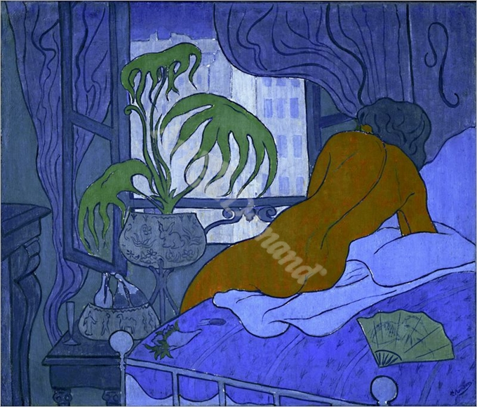 The blue room, or nude with fan - RANSON, PAUL-ELIE