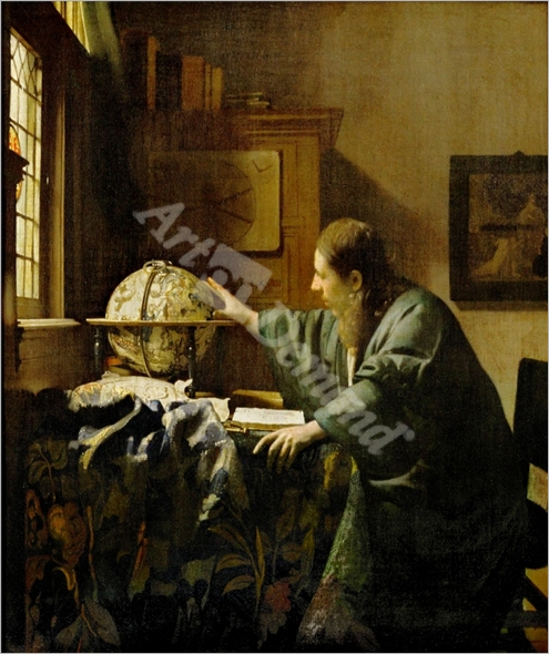 The Astronomer (After restoration) - VERMEER, Johannes
