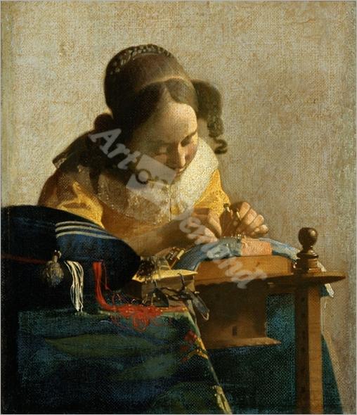 Mujer tejiendo - VERMEER, Johannes