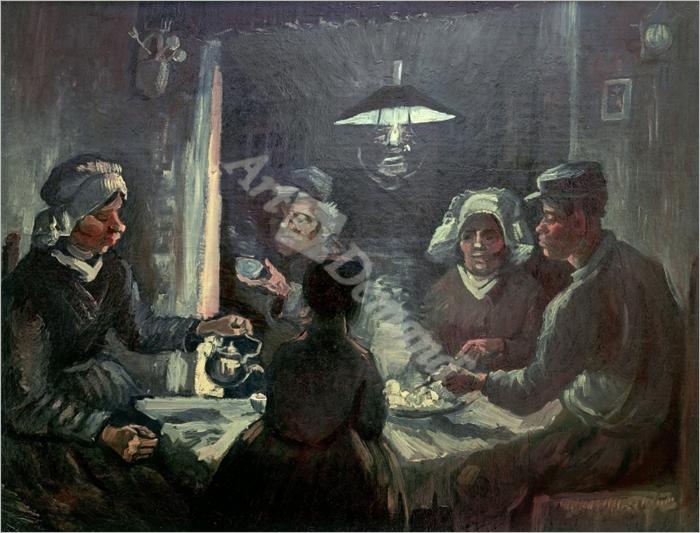 The potato-eaters  1885 Cat. No. 196 - VAN GOGH, Vincent