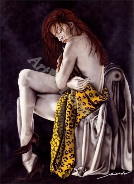 chica leopardo - Miranda, Nieves